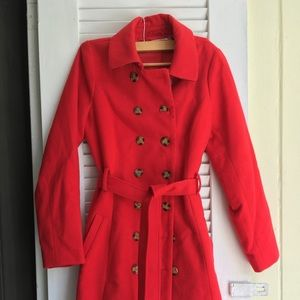 Show-stopping Classic Red Peacoat